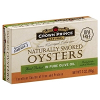 Crown Prince Naturally Smoked Oysters Food Product Image