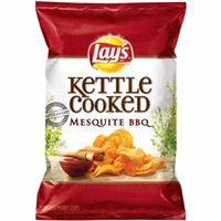 Lay's Kettle Cooked Mesquite BBQ Chips Food Product Image