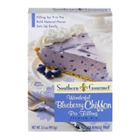 Southern Gourmet Wonderful Blueberry Chiffon Pie Filling Premium Mix Food Product Image