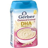 Gerber DHA & Probiotic Oatmeal Baby Cereal, 8 oz Food Product Image