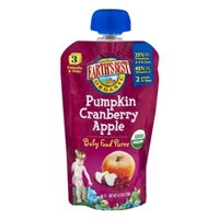 Earth's Best Organic Stage 3 Pumpkin Cranberry Apple Baby Food Puree Food Product Image