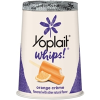 Yoplait Whips! Lowfat Yogurt Mousse Orange Creme Food Product Image