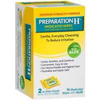 Preparation H Medicated Wipes with Aloe - 96 CT Food Product Image