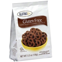 Glutino Pretzels Chocolate 5.5 Oz Food Product Image
