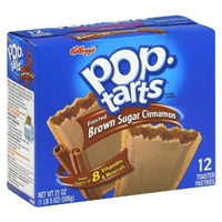 Kellogg's Pop-Tarts Frosted Brown Sugar Cinnamon Pastries 12 ct Food Product Image