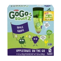 GoGo Squeez Applesauce On The Go Apple Grape - 4 CT Food Product Image