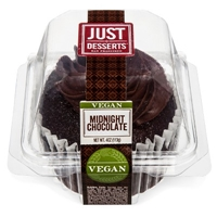 Just Desserts Vegan Chocolate Cupcake 4 oz Food Product Image