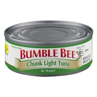 Bumble Bee Chunk Light Tuna In Water Food Product Image