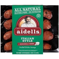 Aidells Smoked Chicken Sausage Italian Style with Mozzarella Cheese Food Product Image