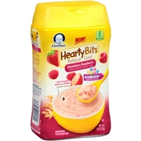 Gerber Hearty Bits Cereal, Strawberry Raspberry Food Product Image