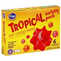 Kroger Fruit Flavored Snacks Tropical Variety Pack Food Product Image
