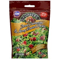 Kroger Salad Toppers Dried Cranberries & Honey Roasted Pecans Food Product Image