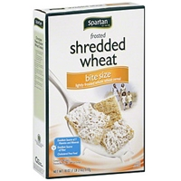 Spartan Cereal Frosted Shredded Wheat, Bite Size Allergy and