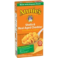 Annie's Homegrown Shells & Real Aged Cheddar Macaroni & Cheese Food Product Image