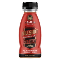 Califia Farms Unsweetened Full Shot Cold Brew Coffee with Almond Milk & Coconut Cream - 10.5 oz Food Product Image