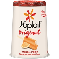 Yoplait Original Low Fat Yogurt Orange Creme Food Product Image