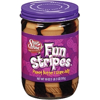 Shurfine Peanut Butter & Grape Jelly Fun Stripes Food Product Image