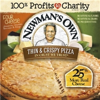 Newman's Own Thin & Crispy Four Cheese Pizza Food Product Image