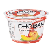 Chobani Non-Fat Greek Yogurt Peach Food Product Image