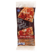 Kroger Microwave in Minutes! Three Meat French Bread Pizza Food Product Image