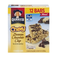 Quaker Chewy Banana Chocolate Chip Granola Bars - 12 CT Food Product Image