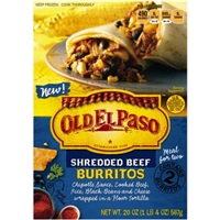 Old El Paso Shredded Beef Burritos Food Product Image