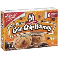 Aunt Millie's Chocolate Chip Chip Hooray Chocolate Chip Muffins, 6ct Food Product Image