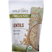 Wild Oats Marketplace Organic Lentils, 16 oz Food Product Image