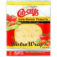 Chi-Chi's Chips & Tortillas Flour Tortillas Sun-Dried Tomato Bistro Wraps Food Product Image