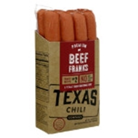 Texas Chili Beef Hotdogs Food Product Image