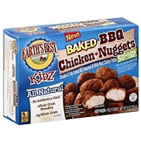 Earths Best Chicken Nuggets Baked, Bbq Food Product Image