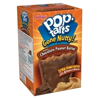 Kellogg's Pop-Tarts Gone Nutty Frosted Chocolate Peanut Butter Pastries 8 ct Food Product Image