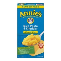 Annie's Homegrown Gluten Free Rice Pasta & Cheddar Macaroni & Cheese Food Product Image