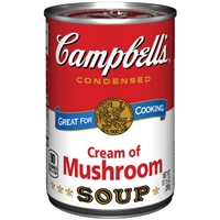 Campbell's Cream of Mushroom Condensed Soup Food Product Image