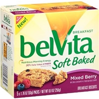 Nabisco Belvita Breakfast Soft Baked Breakfast Biscuits Mixed Berry - 5 Ct Food Product Image