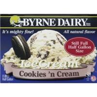 Byrne Dairy Cookies N Cream Ice Cream Half Gallon Allergy And
