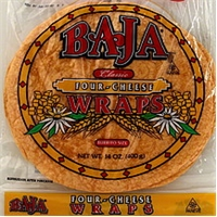 Baja Wraps Four-Cheese, Burrito Size Food Product Image