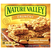 Nature Valley Granola Bars Crunchy Roasted Almond - 12 CT Food Product Image