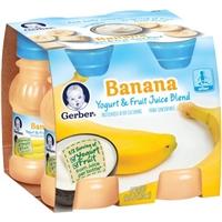 Gerber Banana & Fruit Yogurt Juice - 4 Ct Food Product Image
