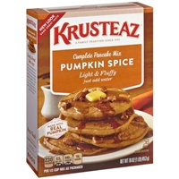 Krusteaz Pumpkin Spice Pancake Mix Food Product Image
