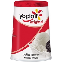 Yoplait Original Cookies 'n Cream Yogurt Food Product Image