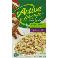 Kroger Active Lifestyle Chai Apple Instant Oatmeal Food Product Image