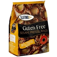 Glutino Pretzels Sesame Rings 8 Oz Food Product Image