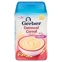 Gerber Single-Grain Oatmeal Cereal - 8 oz Food Product Image