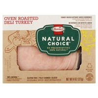Hormel Natural Choice Oven Roasted Deli Turkey Food Product Image