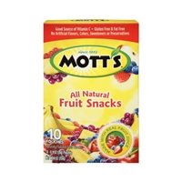 Mott's All Natural Fruit Snacks - 10 Ct Food Product Image