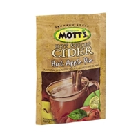 Mott's Hot Spiced Cider Hot Apple Pie Flavored Drink Mix Food Product Image