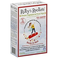 Rubys Rockets Frozen Fruit & Vegetable Pops Rock-It Red Food Product Image