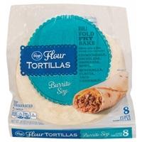 Kroger Flour Tortillas - Burrito Size Food Product Image