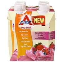 Atkins Day Break Wild Berry Shake - 4 Ct Food Product Image